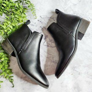 Dolce Vita Tivon Black Leather Chelsea Ankle Boots
